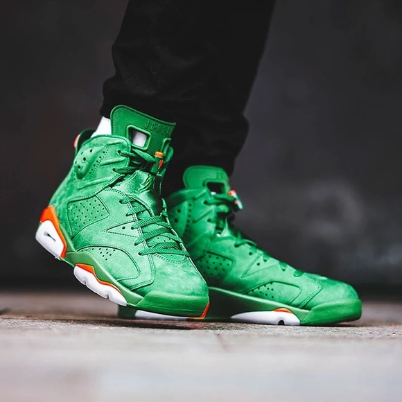 f77dc105ff668 Jordan Shoes | Nike Air 6 Gatorade Aj6 Green Suede | Poshmark